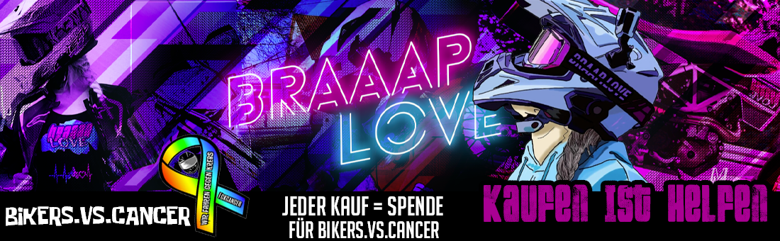 braaap.love Opening Banner bikers.vs.cancer chairty